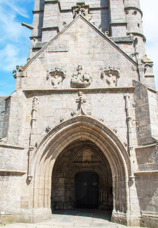 christendom: Church our lady of Croaz Batz Roscoff, Finistere, Brittany, France Stock Photo