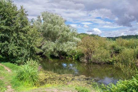 cited: Walnuts on serene. Walk along the river. Yonne, Burgundy, France