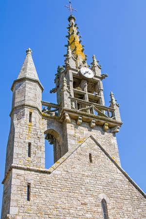 church steeple: Church of Roc Saint Andr? ?, Morbihan, Brittany