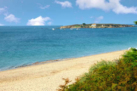 The beach in Finistere - Brittany Stock Photo