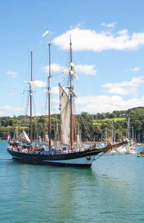Old gracefully in the bay of Douarnenez, Finist�re, Bretazgne Stok Fotoğraf