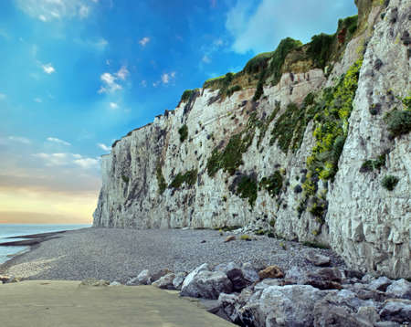 The Treasure. The cliffs on the seafront. Seine Maritime. Normandy Imagens