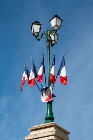 Flags and coat of arms of the French Republic