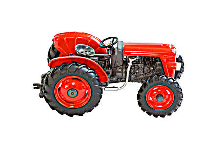 Plastic toy model of low tractor