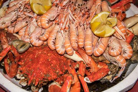 Seafood platter on serve Imagens - 93701092
