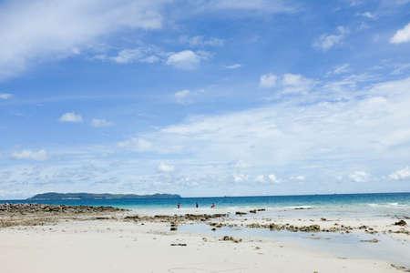to scrape: The beach in island