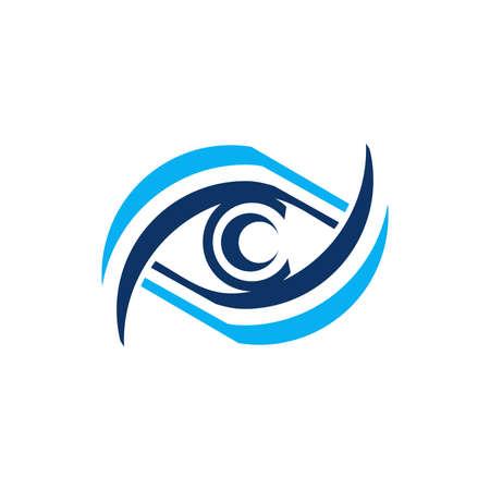 blue eye icon symbol vector design illustration