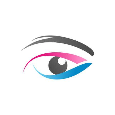 beauty eye vision , beautiful eye symbol icon vector design illustration