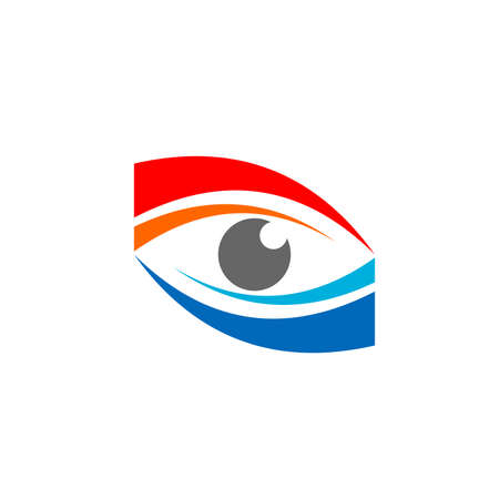 abstract red blue eye symbol icon vector design illustration 向量圖像