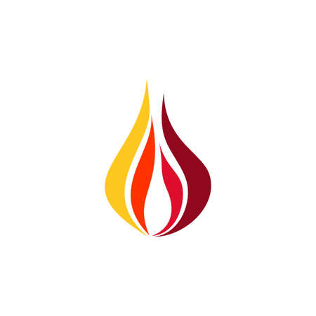 fire flame logo symbol icon vector design illustration Banco de Imagens - 143095497