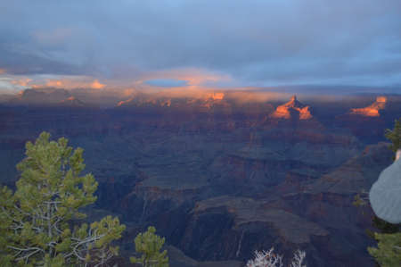overlook: Sunset South Rim Grand Canyon Overlook