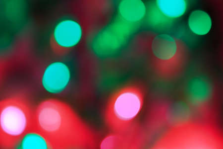 pink and green: pink,green and red christmas bokeh Stock Photo