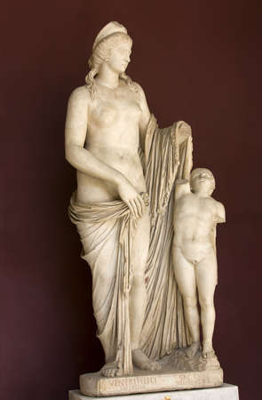 Antique statue of goddes Venus in Vatican photo