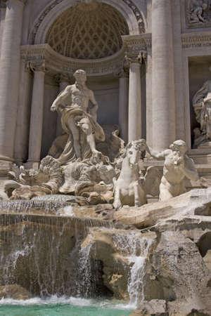 italian fountain: Antique vintage italian fountain Trevi in Rome