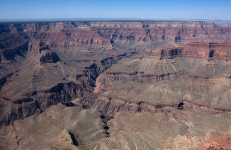 Scenic view from helicopter on north part of Grand Canyon