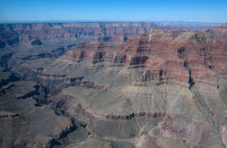 Birds-eye scenic view to the north part of Grand Canyon