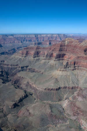Helicopter view to north part of Grand Canyon