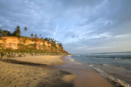 Varkala beach in the state Kerala in India