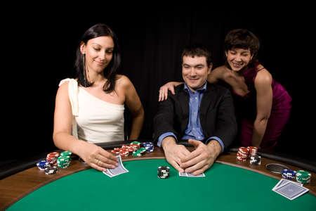 Company of friends having fun in the Vegas casino Stock Photo - 4569757
