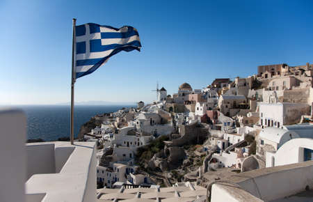 Greece flag Stock Photo