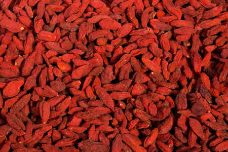 wolfberry: Screen full of red healthy goji berries Stock Photo