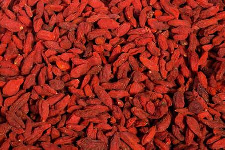 goji berry: Screen full of red healthy goji berries Stock Photo