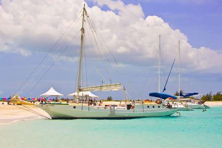 Caribbean Boats at the Turks and Caicos half moon bay photo