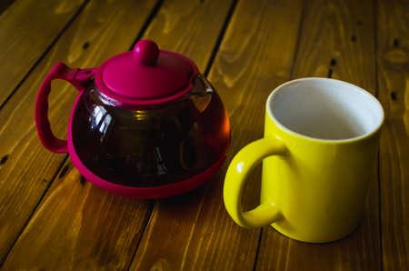Tea on a Wooden Table