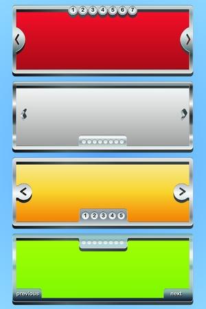 3d Vector header slider Illustration