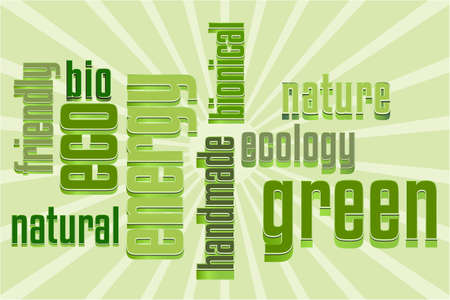 Eco Vector Green Word Cloud