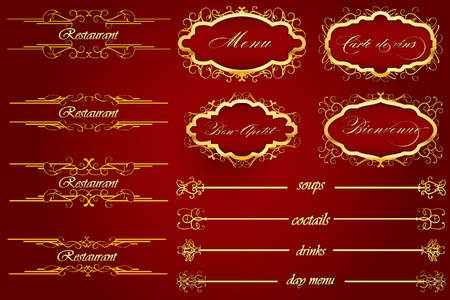 Royal Red Bienvenue Restoraunt Menu Stock Vector - 9925350