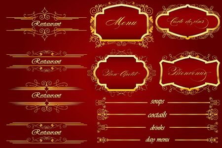 Royal Red BonApeti Menu Vector