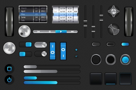 Graphic User Interface for your mobile or desktop application Stock Vector - 9925361