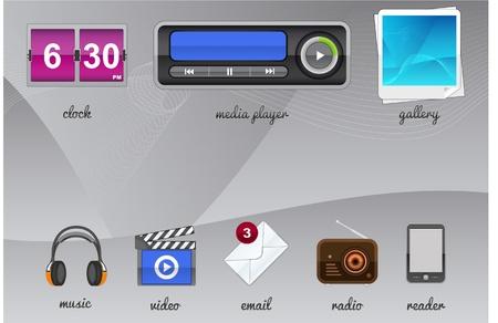 Gadgets for your tablet Illustration