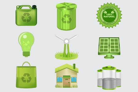 Realistic Eco Icons for your site or print needs