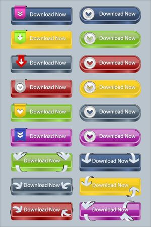Fancy Vector Download Buttons