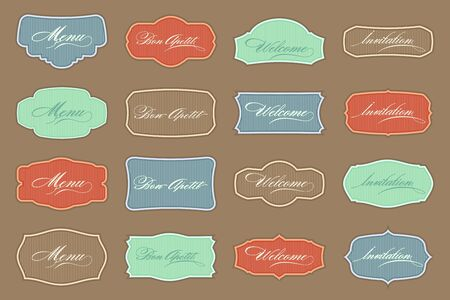 Retro Label set Stock Vector - 10798611
