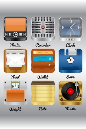 Icons for mobile devices  Illustration