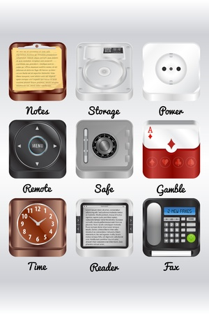 Icons for your computer,smartphone or tablet photo