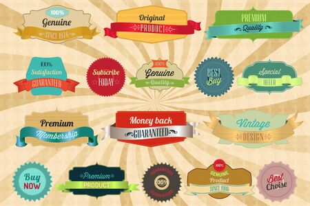 Retro labels and badges for your needs Vector