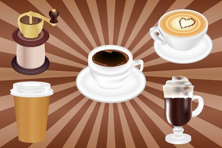 Realistic Vector Coffee Cups for your print project Illustration