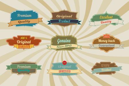 Package include 9 nine  of labels for websites menus or print works Illustration