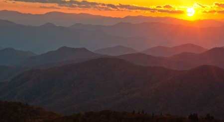 Sunset Over Cowee Mountains of NC photo