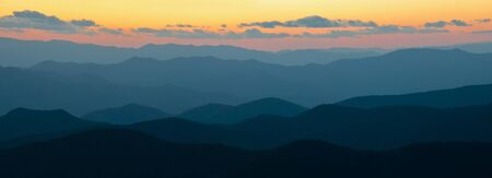 Sunset over the Cowee Mtns off of the Blue Ridge Parkway
