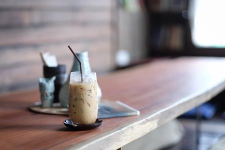 iced espresso coffee in cafe 版權商用圖片