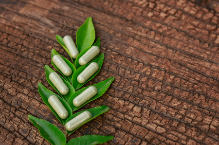 herbal powder medicine in capsules  for healthy eating