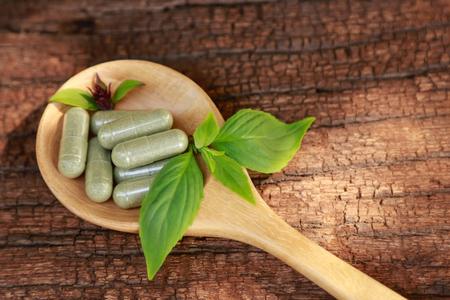 herbal powder medicine in capsules