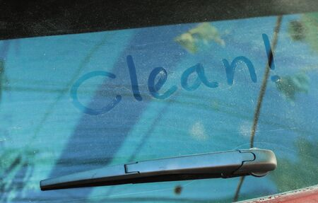 Dirty dust stain on car for cleaning concept