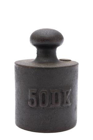 etalonnage: Poids de calibrage antique Banque d'images