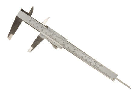 sliding caliper: Vernier caliper  slide gauge  isolated on a white background